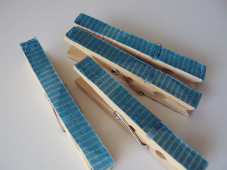 decoupage-clothespins