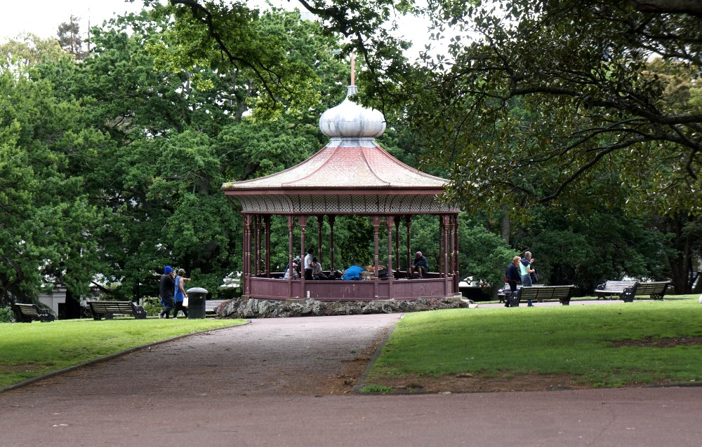 New Zealand Albert Park band rotunda