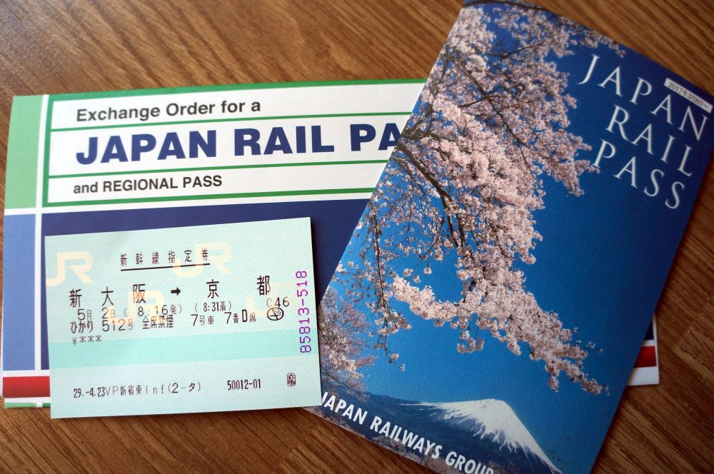 Voucher for exchange, Rail Pass, Shinkansen Ticket