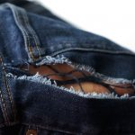 jeans fabric ripped out