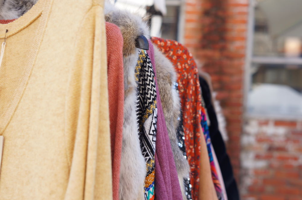 second hand clothes close up