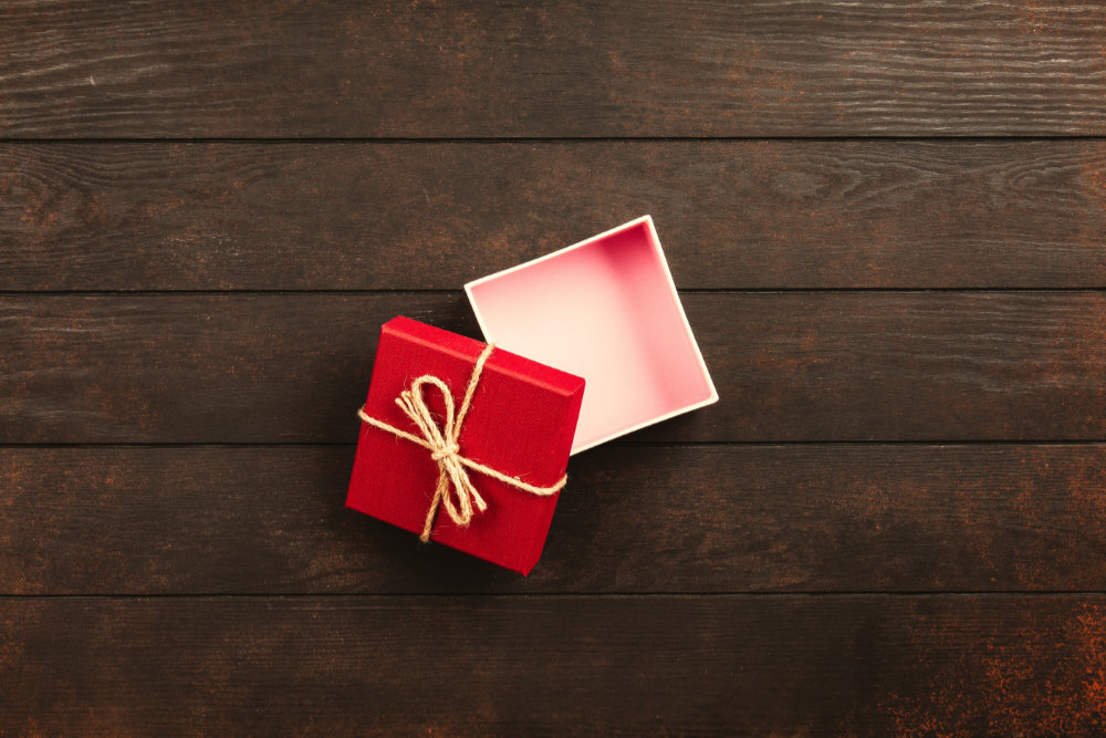 gift ideas for environmentalists:empty gift box