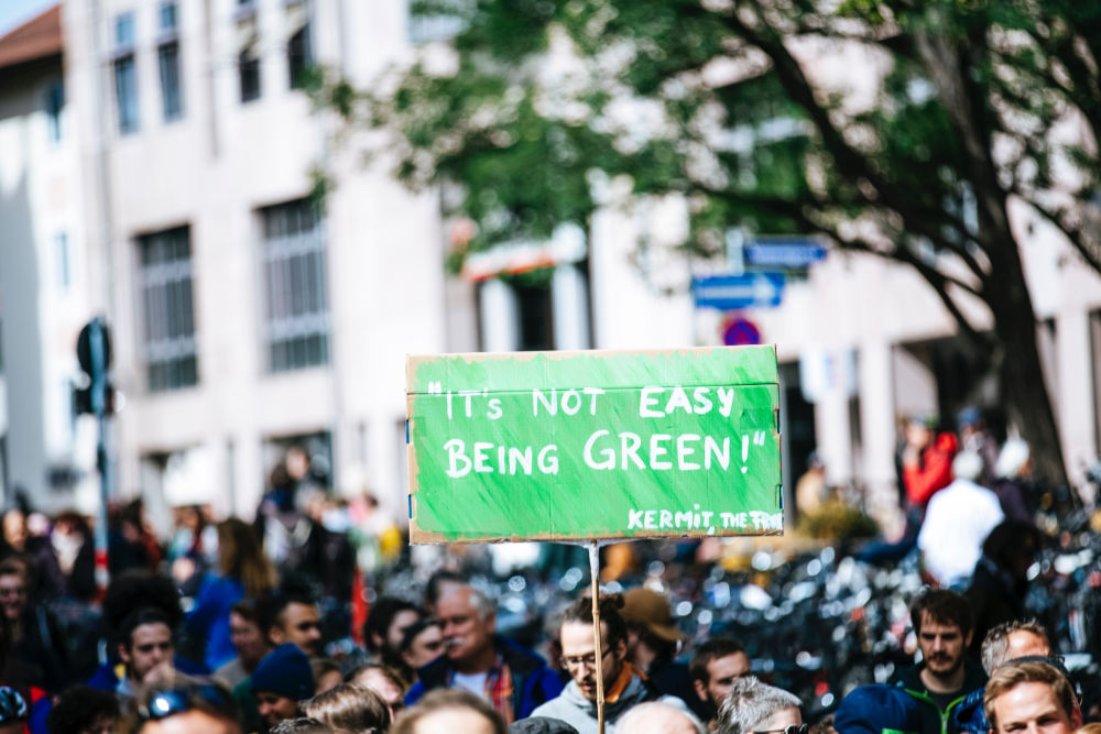 its not easy being green sign