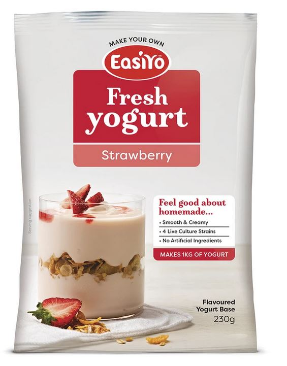 easiyo yogurt base strawberry