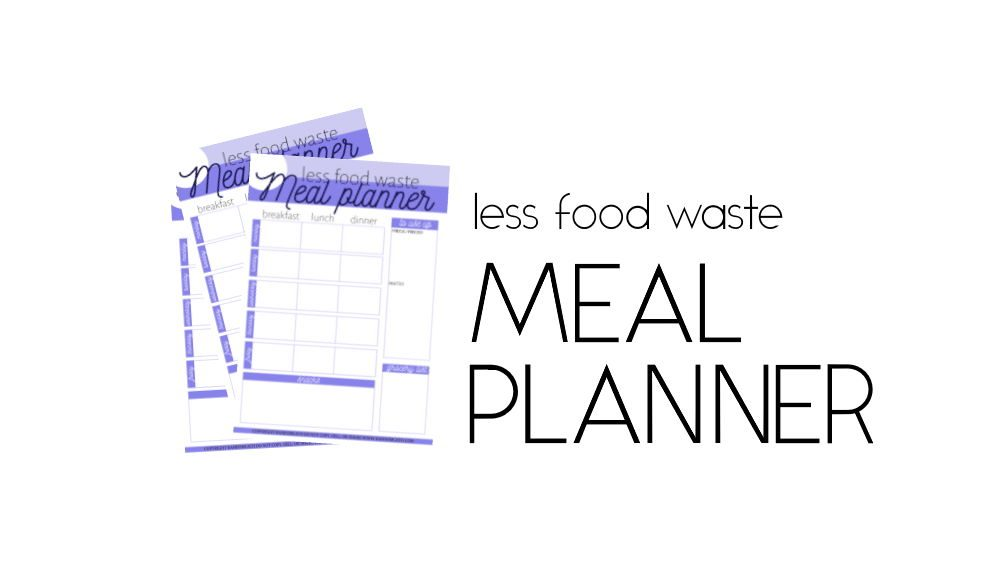 less food waste meal planner